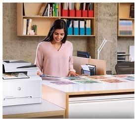 Der Laserjet Pro Laserdrucker von HP wird getestet