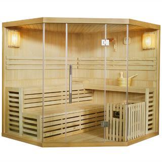 Die Sauna von Dewello hat eine hochwertige Verarbeitung im Test