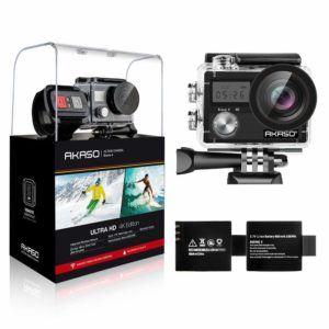 AKASO Action Cam-4K-30fps 20MP Action Camera mit Touchscreen im Unterwasserkamera Test und Vergleich