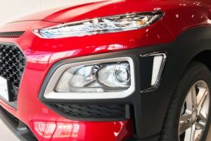 Die Beinfreiheit vom Hyundai Kona im Test und Vergleich
