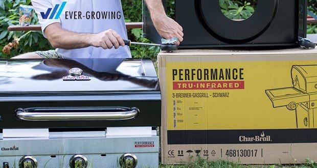 Der 3 Brenner Gasgrill Performance Series 340B von Char-Broil im Test - robuste und stabile Verpackung