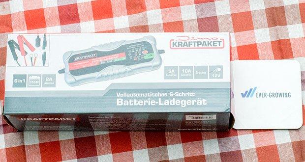 Dino KRAFTPAKET 10A-12V/24V Batterieladegerät im Test - Vollautomatisches 6-Schritt Batterieladegerät mit 10A Ladestrom für 12+24V Starterbatterien