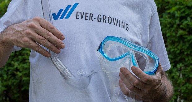 Cressi Unisex Tauchset Rondinella - schnell auswechselbares Maskenband mit patentierten Schnallen mit Fein- und Schnellregulierung, in Anlehnung an das System der Cressi-sub-Tauchmasken