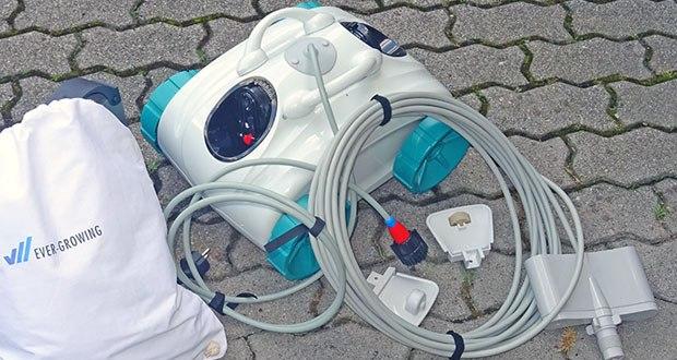 Poolroboter von POOL Total im Test – mit Filter-Korb, leicht zu entnehmen für die Reinigung