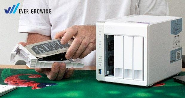 QNAP TS-431P ist mit einem 1,7-GHz-Dual-Core-Cortex-A15-Prozessor ausgestattet und liefert hohe Leistung