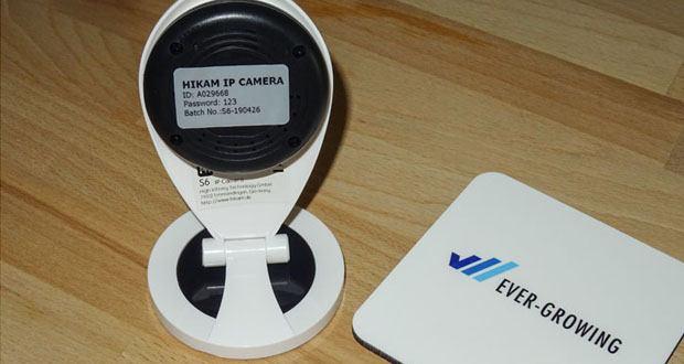 HiKam S6 Überwachungskamera mit Alarm-Push-Notifikation
