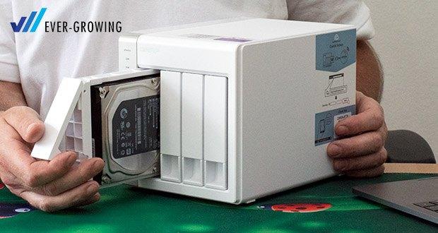 QNAP TS-431P - leistungsfähiges und dennoch kostengünstiges NAS mit 4 Einschübe für Klein- und Heimbüros