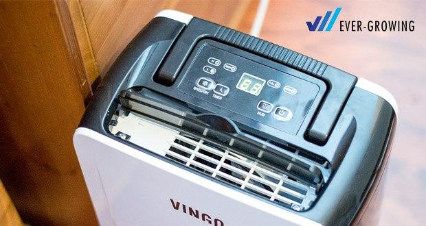 Vingo Luftentfeuchter von Hengda inkl. automatische Entfeuchtungsfunktion, LED Display mit Timerfunktion, Luftreinigungsfunktion, Wäschetrockungsfunktion, Abtaufunktion