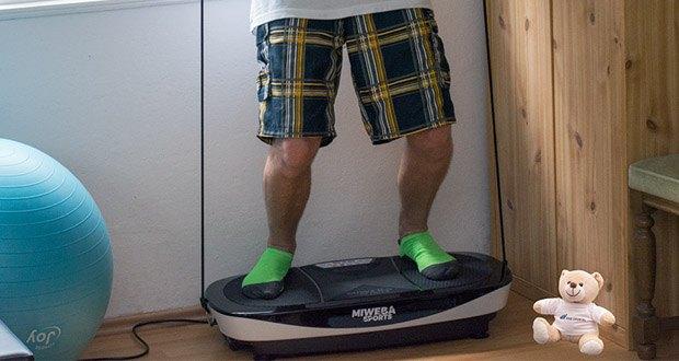 Miweba Sports MV200 3D Vibrationsplatte - das Power Plate von Miweba Sports punktet durch sein geringes Eigengewicht, das die Rüttelplatte jederzeit und an jedem Ort einsatzfähig macht