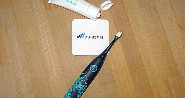 happybrush Elektrische Schallzahnbürste - 1x GRATIS Zahnpasta SuperWhite für natürliche Zahnaufhellung