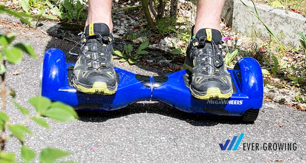 """MEGAWHEELS Hover Board 6.5"""" - Max. Reichweite: ca. 5-8 km pro volle Ladung"""
