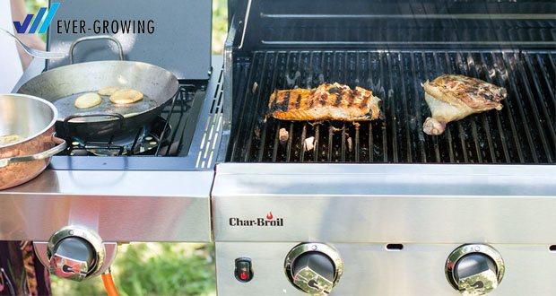 Der 3 Brenner Gasgrill Performance Series 340B von Char-Broil - Porzellanbeschichtete Grillroste: langlebig und leicht zu reinigen