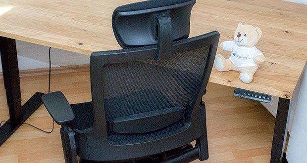 Ergotopia NextBack Ergonomischer Bürostuhl im Test - zusätzliche Kopfstütze gegen Nackenschmerzen