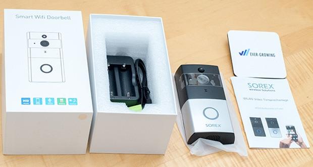 SOREX WLAN Video Türsprechanlage im Test - Weitwinkelaufnahme und Bild in HD-Qualität