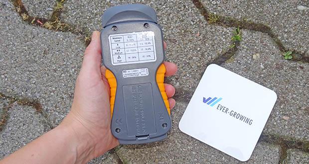 Brennenstuhl Feuchtigkeitsmessgerät im Test - Messbereich von 5 -50 % für Holz, bei Baustoffen 1,5 - 33 %