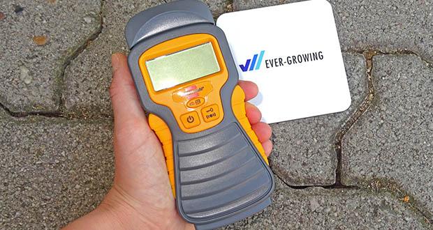 Brennenstuhl Feuchtigkeitsmessgerät im Test - Messgerät mit automatischer Abschaltung ca. 3 Minuten nach letztem Gebrauch