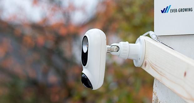 SENS8 Light Cam Überwachungskamera im Test - helles LED-Licht schaltet sich automatisch ein wenn eine Bewegung erkannt wird