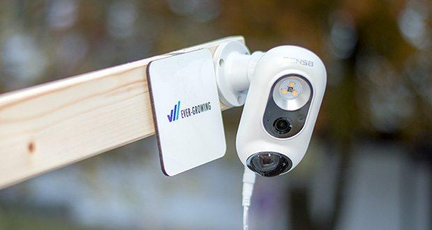 SENS8 Light Cam Überwachungskamera im Test - Schutzart IP65 (IP66), staubdicht und vor Regen und Schnee geschützt