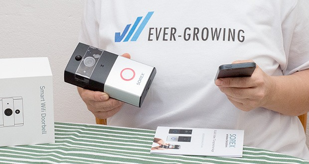 SOREX WLAN Video Türsprechanlage im Test - kann an bis zu 5 Smartphones gleichzeitig angelernt werden