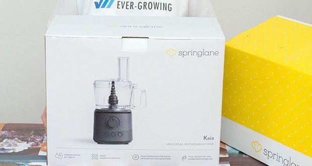 Springlane Universal Küchenmaschine Kaia im Test - Volle Power bei 1000 Watt und bis zu 18.000 Umdrehungen pro Minute