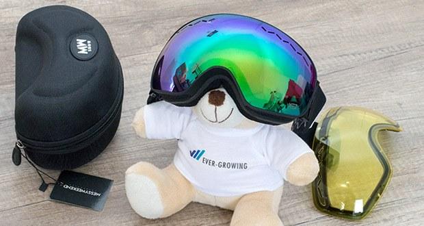 MessyWeekend Float Skibrille im Test - die Sicht bietet hohen Kontrast und Farbintensität