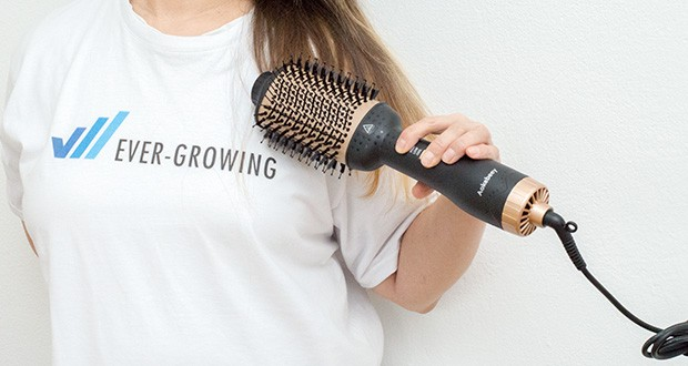 Aokebeey Multifunktions Warmluftbürste im Test - Negative Ionen-Technologie beschleunigt das Trocknen, reduziert die Entstehung von statischen Aufladungen und beseitigt Kräuselungen im Haar
