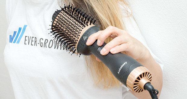 Aokebeey Multifunktions Warmluftbürste im Test - das Ergebnis ist perfekt glänzendes Haar ohne viel Aufwand