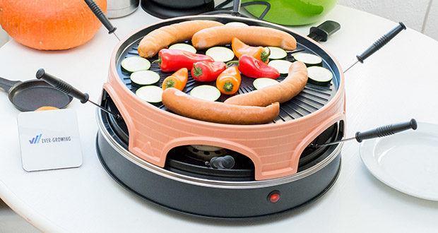 Emerio Pizzaofen PIZZARETTE 3 in 1 Pizza-Raclette-Grill im Test - antihaftbeschichtete Backplatte und Grillfläche