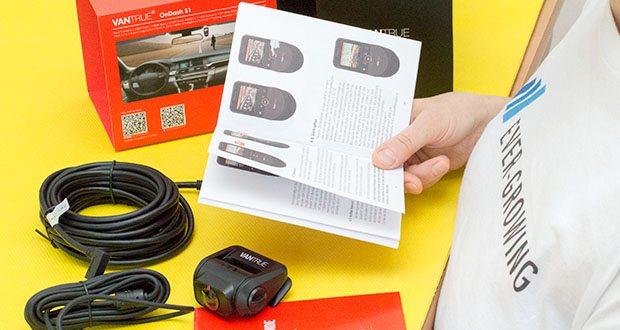 VANTRUE S1 Dual Dashcam im Test - im Parkmodus wird die Dual Car Camera automatisch aufgezeichnen, sobald die vordere oder innere Kamera Bewegungen erkennt