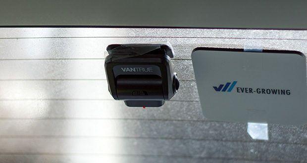VANTRUE S1 Dual Dashcam im Test - die Rückkamera nehmt deutliche Video nach dem Auto
