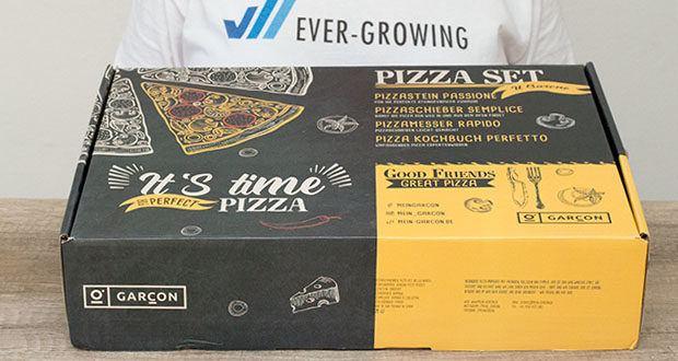 GARCON Pizzastein 4er Set im Test - inkl. Pizza Stone, Pizzaschieber, Pizzaschneider & Kochbuch zum Pizza Backen