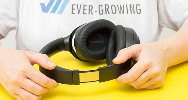 Mu6 Space 2 Active Noise Cancelling Kopfhörer im Test - Hybrid Active Noise Cancellation Technology ist ein verbessertes System, das nicht nur Geräusche über einen breiteren Frequenzbereich unterdrückt, sondern auch Fehler anpasst und korrigiert, während es weniger empfindlich auf Schallwinkel und Abnutzung des Benutzers reagiert