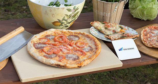 GARCON Pizzastein 4er Set im Test - mit dem Pizzastein Set verwandelst Du deinen Oven in eine kleine italienische Pizzeria und erfreust dich an der perfekten Mischung aus locker, luftigem Belag und knusprigem Boden