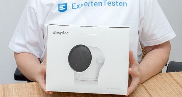 EasyAcc Mini Keramik Heizlüfter im Test - aus Flammhemmendem Material der Klasse VO mit Hoher Sicherheit