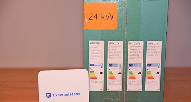 Vaillant Elektro-Durchlauferhitzer VED E 21/7 im Test - max. Zapfmenge 12 l/min