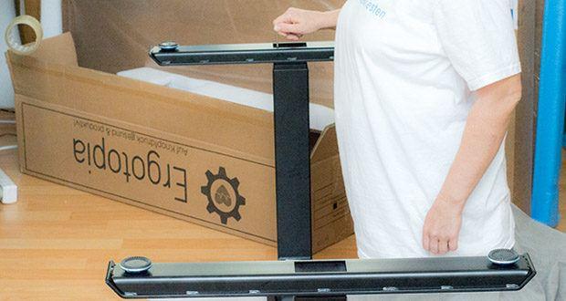 Ergotopia elektrisch höhenverstellbarer Schreibtisch im Test - sehr einfache Montage