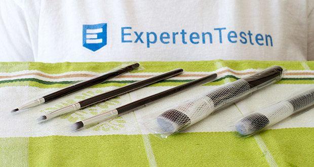 FIND Starterset 5 Pinsel im Test - Lieferumfang: 5 Pinsel – Creasepinsel (Nr. 04), Smudgepinsel (Nr. 06), Lippenpinsel (Nr. 07), Foundationpinsel (Nr. 08), Rougepinsel (Nr. 11)