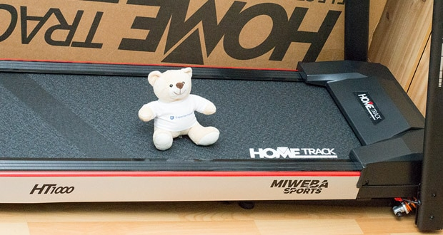 Miweba Sports Laufband Home Track HT1000F mit incline - der leistungsstarke DC-Motor sorgt mit AC 220V für satte 1,75 PS