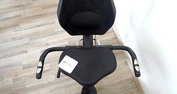 Christopeit Ergometer im Test - individuell einstellbar (ca. 20cm horizontal verstellbar), Komfortsattel mit angenehmen Rückenteil
