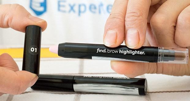FIND Augenbrauen-Highlighting Kit im Test - in der Packung enthalten: 1 x Augenbrauen-Highlighter, 1 x Augenbrauen-Mascara