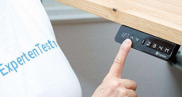 Ergotopia elektrisch höhenverstellbarer Schreibtisch im Test - weite Höhenverstellbarkeit (62,3-127 cm), sodass praktisch JEDER den Steh-Sitz Tisch ideal für sich einstellen kann
