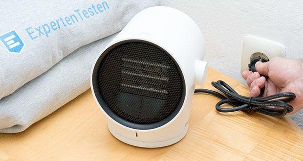 EasyAcc Mini Keramik Heizlüfter im Test - mit Überhitzungsschutz & Umkippschutz