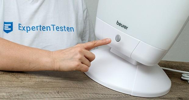 Beurer TL 80 Tageslichtlampe im Test - komfortable Ein-Knopf-Bedienung