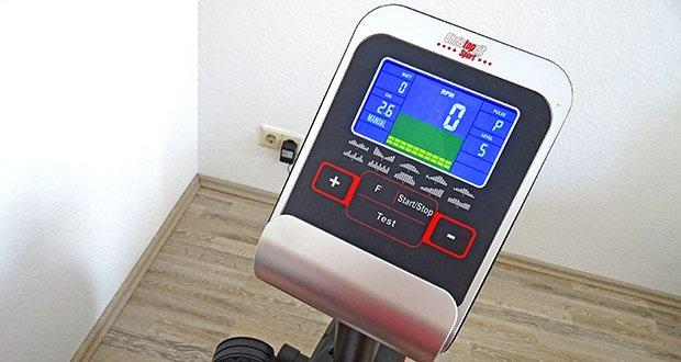 Christopeit Ergometer im Test - 10 vorgegebene Trainingsprogramme, 4 Herzfrequenzprogramme mit Vorgabe der maximalen Pulsfrequenz (Pulsgesteuert), 5 individuelle Programme