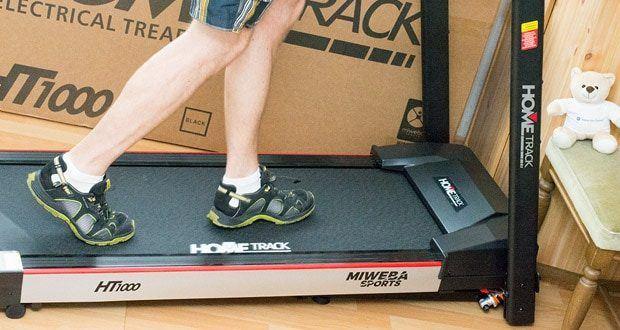 Miweba Sports Laufband Home Track HT1000F mit incline - für maximale Kontrolle sind bei diesem Laufband für Zuhause Sensoren in den Handgriffen integriert