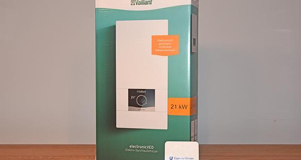 Vaillant Elektro-Durchlauferhitzer VED E 21/7 im Test - vollelektronische Leistungs- und Wassermengenregulierung Temptronic