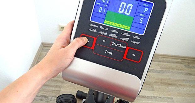 Christopeit Ergometer im Test - 1 drehzahlunabhängiges Watt – Programm (Vorgabe der Wattleistung von 30 bis 350 Watt einstellbar in 10 Watt Schritten)