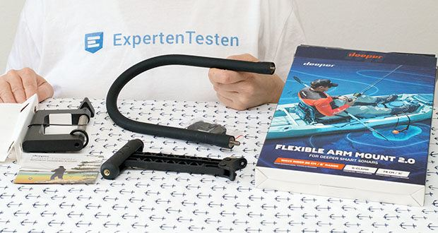 Deeper CHIRP+ Smart Sonar GPS-Fischfinder Set im Test - Deeper Flexible Arm 2.0 - Super starker Halt