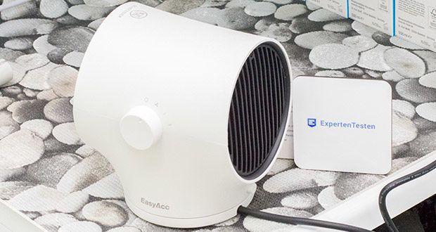 EasyAcc Mini Keramik Heizlüfter im Test - 90°Schüttelnfunktion - für Multiszene Verfügbar