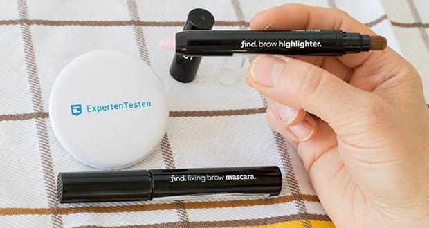 FIND Augenbrauen-Highlighting Kit im Test - aus ausgewählten, hautpflegenden Inhaltsstoffen